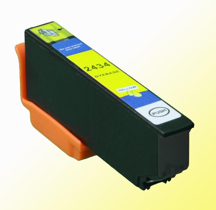 Kompatibel Epson Elefant, T2434, 24XL, C13T24344010 Y Yellow Gelb Druckerpatrone für 790 Seiten von D&C