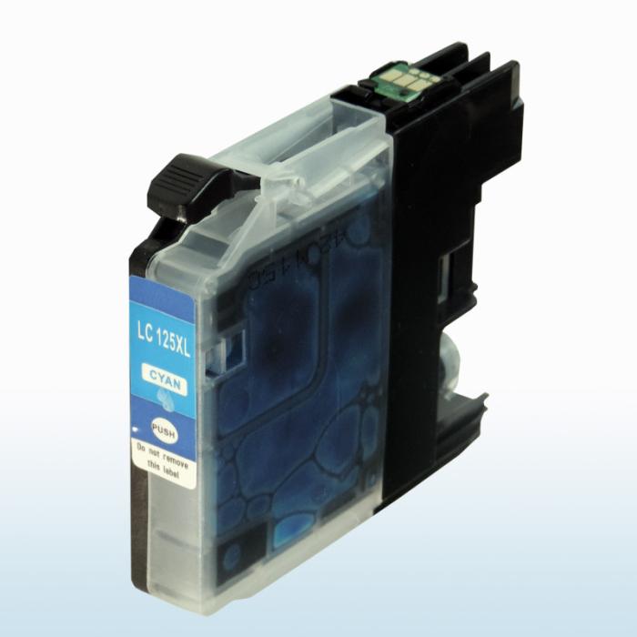Kompatibel Brother LC-125 XXL C Cyan Blau Druckerpatrone für 1.200 Seiten von D&C