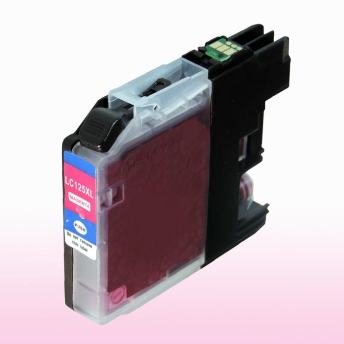 Kompatibel Brother LC-125 XXL M Magenta Rot Druckerpatrone für 1.200 Seiten von D&C
