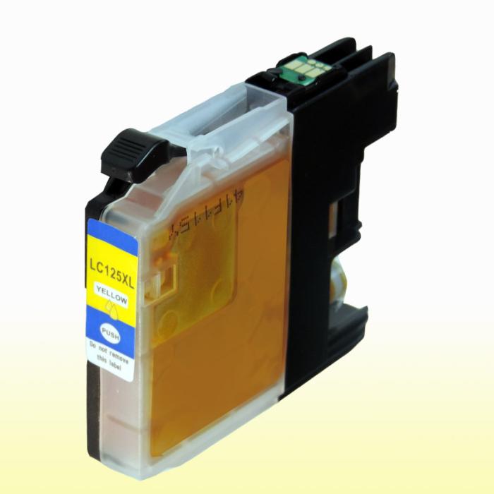 Kompatibel Brother LC-125 XXL Y Yellow Gelb Druckerpatrone für 1.200 Seiten von D&C