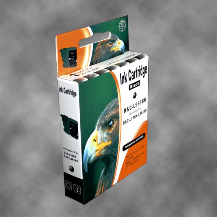 Kompatibel Brother LC-985 BK Schwarz Black Druckerpatrone für 300 Seiten von D&C