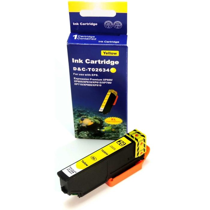 Kompatibel Epson T2634, Eisbär, 26XL, C13T26344010 Y...