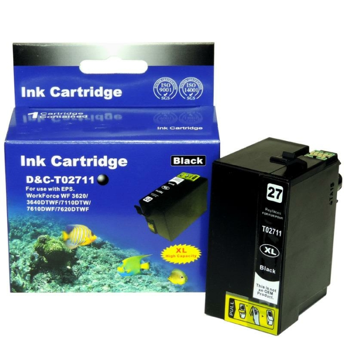 Kompatibel 4er Set Epson Wecker, T2715, 27XL, C13T27154010 Druckerpatronen Tinte von D&C