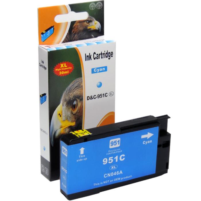 Kompatibel HP 951XL, CN046AE C Cyan Blau Druckerpatrone für 1.500 Seiten von D&C