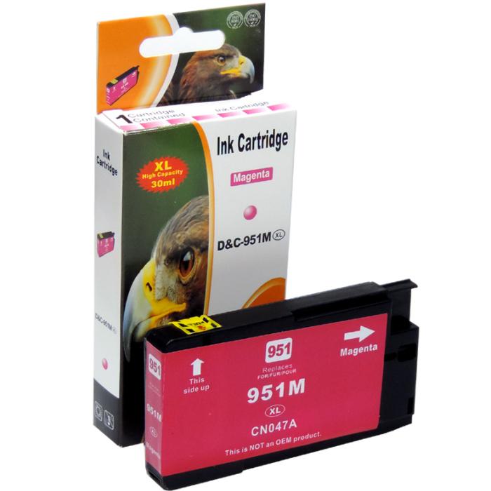 Kompatibel HP 951XL, CN047AE M Magenta Rot Druckerpatrone für 1.500 Seiten von D&C