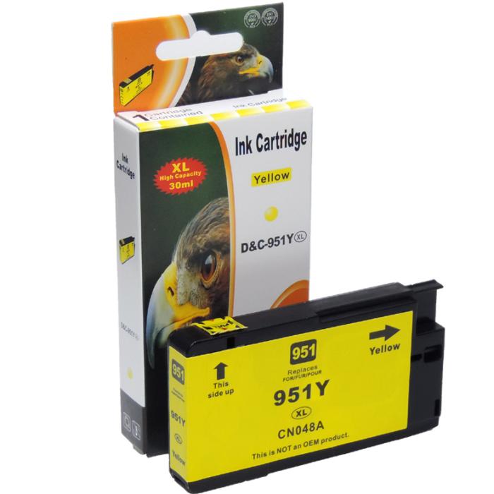 Kompatibel HP 951XL, CN048AE Y Yellow Gelb Druckerpatrone für 1.500 Seiten von D&C