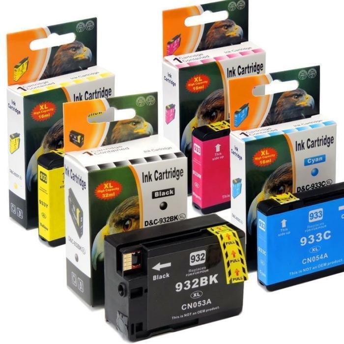 Kompatibel 4er Set HP 932XL, 933XL, C2P42AE Druckerpatronen Tinte von D&C