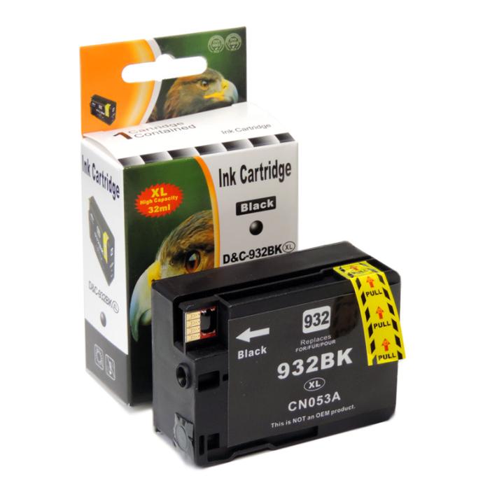 Kompatibel HP 932XL, CN053AE BK Schwarz Black Druckerpatrone für 1.000 Seiten von D&C