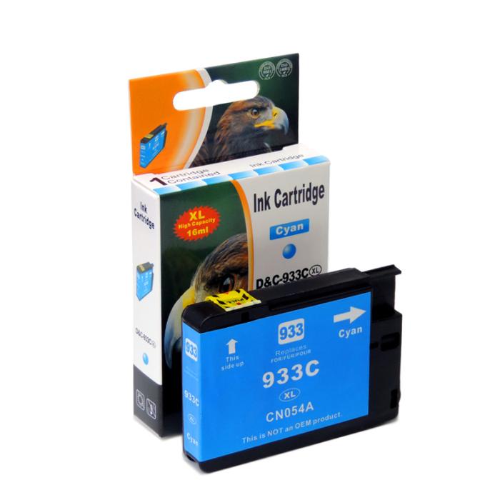 Kompatibel HP 933XL, CN054AE C Cyan Blau Druckerpatrone für 825 Seiten von D&C