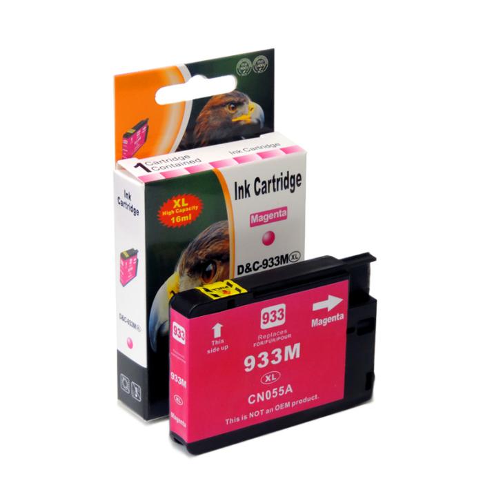 Kompatibel HP 933XL, CN055AE M Magenta Rot Druckerpatrone für 825 Seiten von D&C