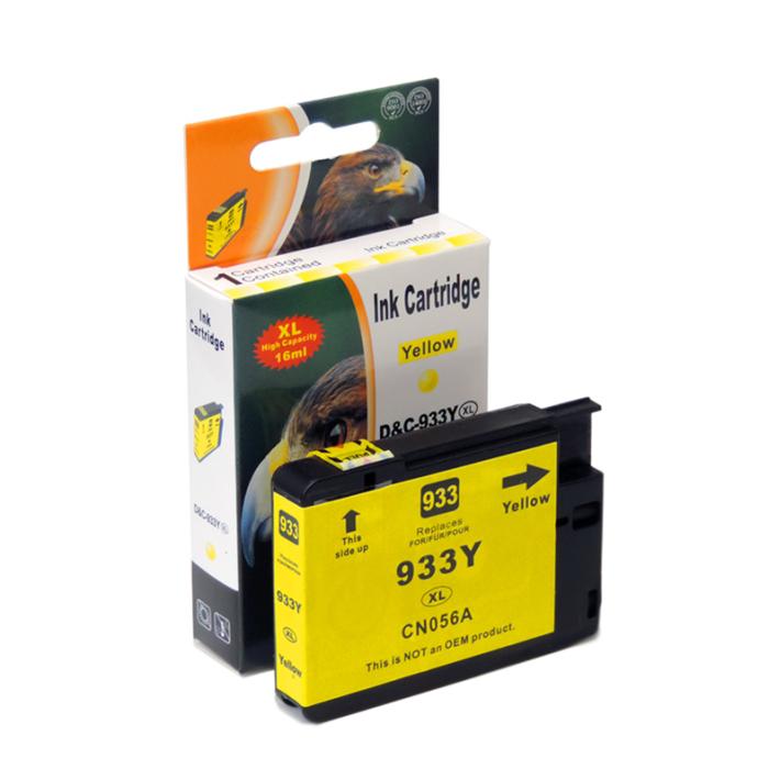 Kompatibel HP 933XL, CN056AE Y Yellow Gelb Druckerpatrone für 825 Seiten von D&C