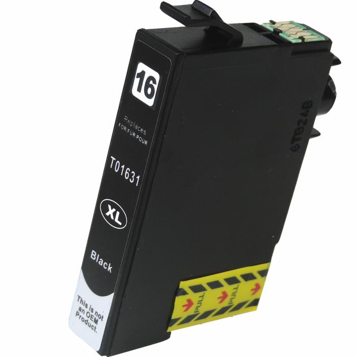 Kompatibel Epson 16XL, T1631, C13T16314010, Füller BK Schwarz Black Druckerpatrone für 500 Seiten von D&C