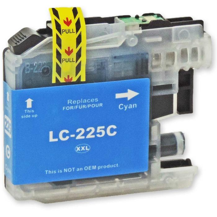 Kompatibel Brother LC-225 XXL C Cyan Blau Druckerpatrone für 1.200 Seiten von D&C