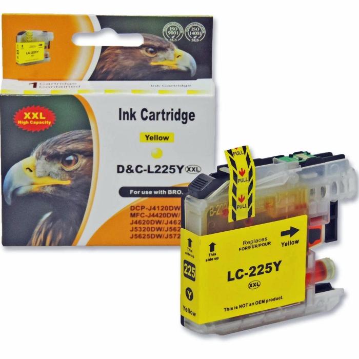 Kompatibel Brother LC-225 XXL Y Yellow Gelb...