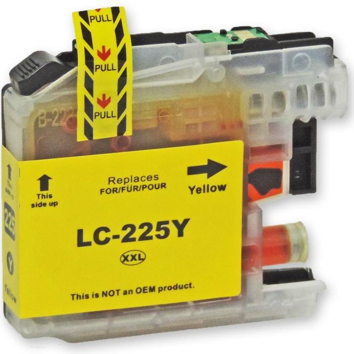 Kompatibel Brother LC-225 XXL Y Yellow Gelb Druckerpatrone für 1.200 Seiten von D&C