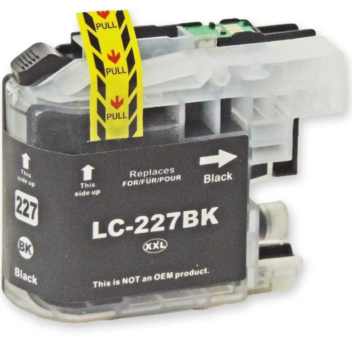 Kompatibel Brother LC-227 XXL BK Schwarz Black Druckerpatrone für 1.200 Seiten von D&C