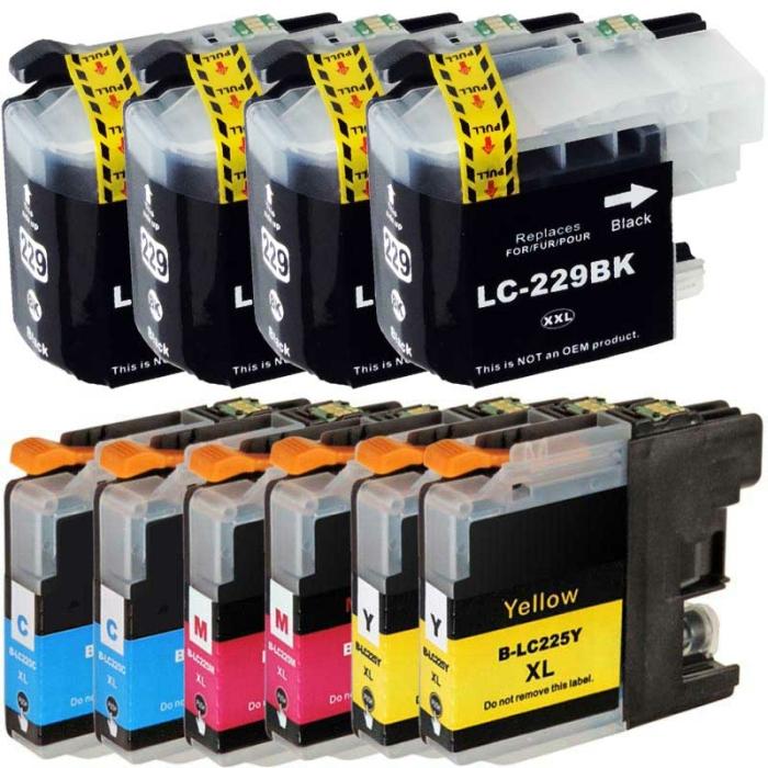 Kompatibel Brother LC-225 XXL, LC-229 XXL Set 10 Druckerpatronen alle Farben von D&C