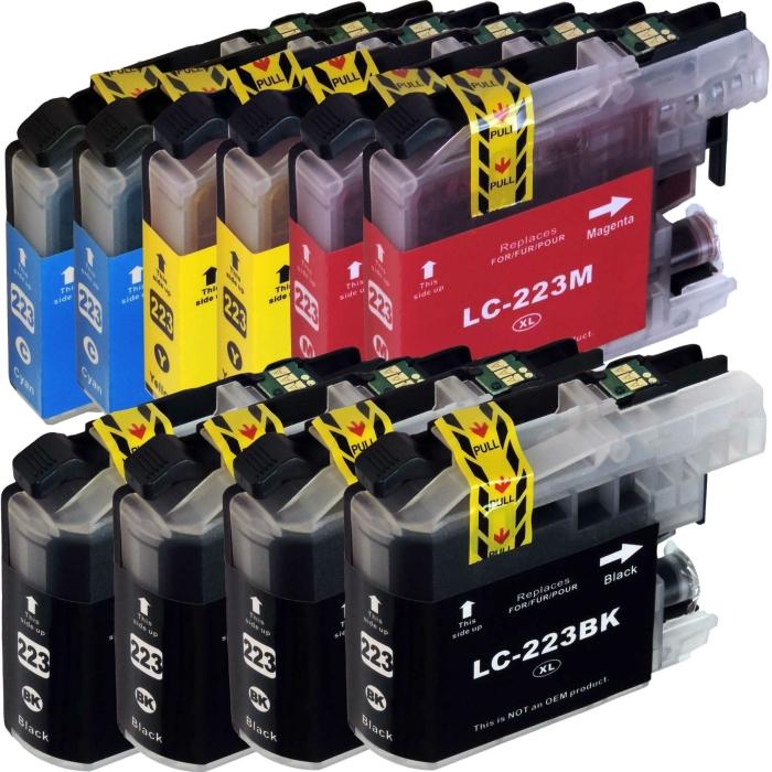 Kompatibel Brother LC-223 XL Set 10 Druckerpatronen alle Farben von D&C