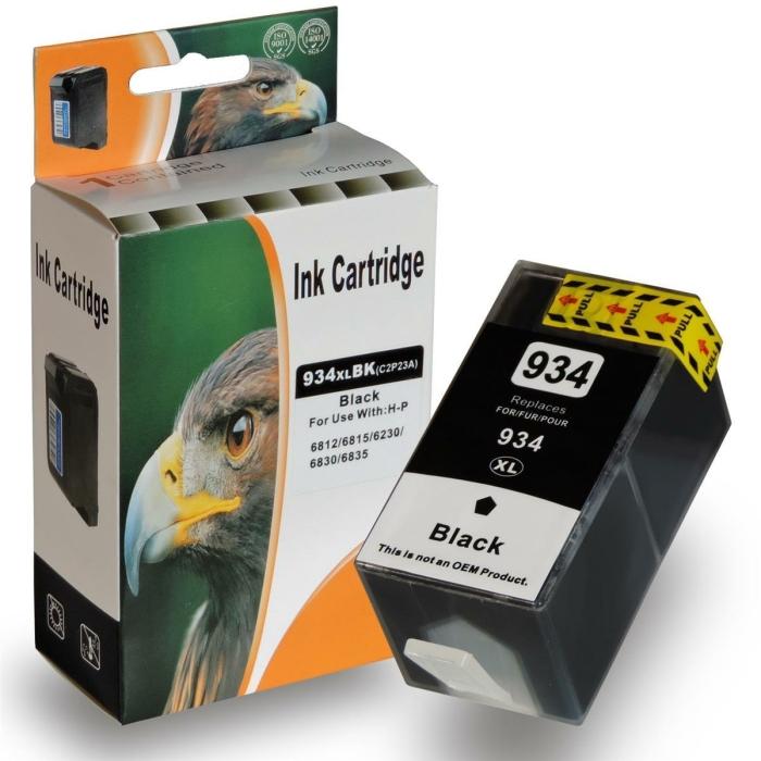 Kompatibel HP 934XL, C2P23AE BK Schwarz Black...