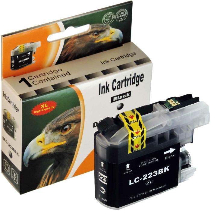 Kompatibel Brother LC-223 XL BK Schwarz Black Druckerpatrone für 550 Seiten von D&C