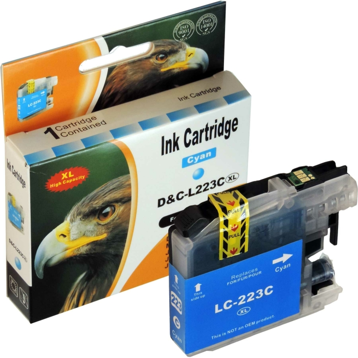 Kompatibel Brother LC-223 XL C Cyan Blau Druckerpatrone...