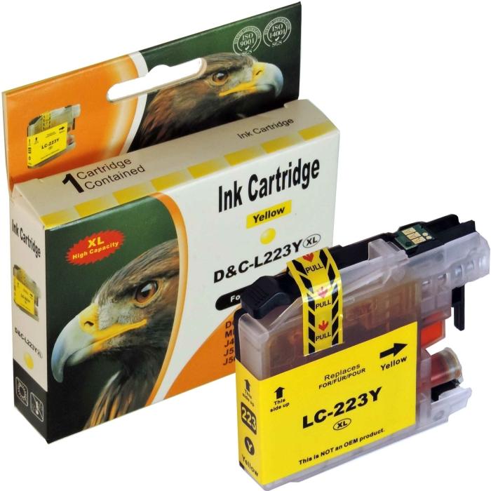 Kompatibel Brother LC-223 XL Y Yellow Gelb Druckerpatrone für 550 Seiten von D&C